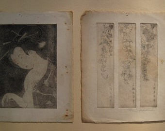 Two Japanese Etchings