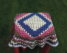 HAND CROCHETED  Lapghan, Baby Blanket, Pram or Cot Blanket,Wheelchair Blanket. (Ready to Ship)  New Item
