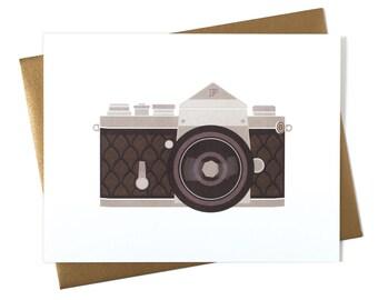 Blank Card - Any Occasion Card - Camera Art Deco SLR