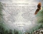 DAD   Greatest Hero My Dad, My Son, My Daughter in Spanish or English Gift Keepsake