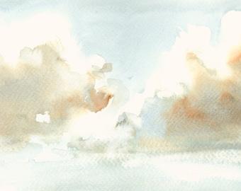 Cloud Artwork Fine Art Print from Original Watercolor Study