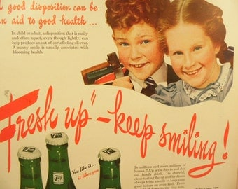 1940s Seven Up Ad 7 Up Advertisement