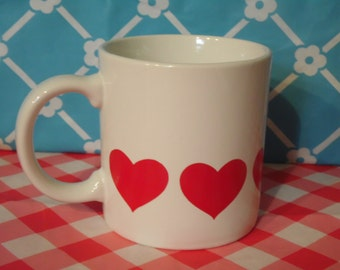Red Heart Mug - 8 oz - Made In Japan