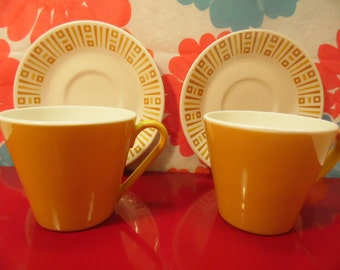 2 Tea Cups/Saucers - Syracuse China - Syralite