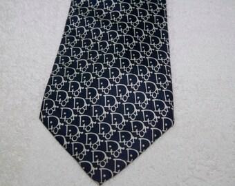 Vintage Authentic Christian Dior Silk Tie