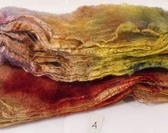 Hand- dyed  silk hankies -  ( 1.2 oz.)