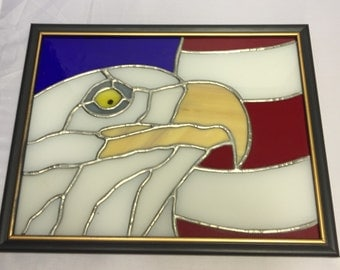 American Eagle stained glass