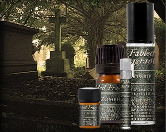 ZOMBIE Perfume: Clean Earth Fragrance, Fresh Rain, Chypre Accord, Black Musk, Horror Inspired, Vegan Solid Perfume, Ships Out in 4-7 Days