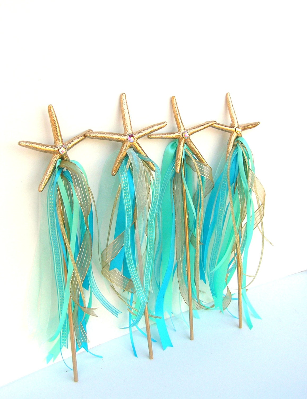 Starfish Mermaid Wand Mermaid Party Supply Any Color Under