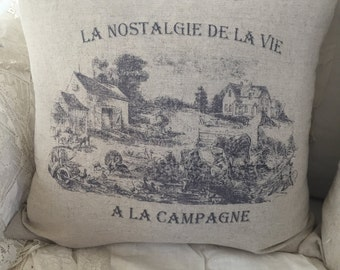French Country Pillow Cover|shabby chic|farmhouse|french country