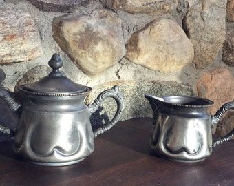 Antique  Sugar and Creamer by E.G.Webster and Sons