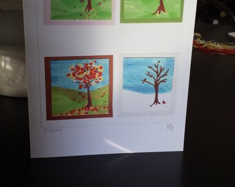 Four Seasons Art Print Greeting Card