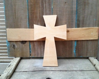 Unpainted Wooden Cross Style B,  Unfinished Cross Crafting Supplies, Paint It Yourself Cross