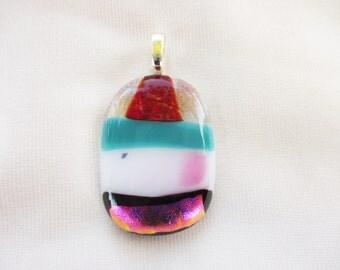 Handmade OOAK Glass Pendant Cupcake