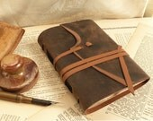 Journal - Brown Leather Vintage Style Notebook -  Brown Leather Journal, Diary