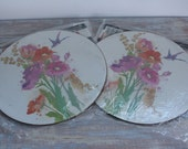 Flowered trivets (NOS)- Free Shipping