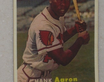 1957 Topps hank aaron #20 incredible looking card