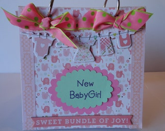 New Baby Girl Scrapbook