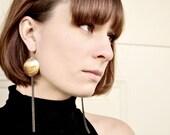 Handmade Brass Circle Earrings with Fringe