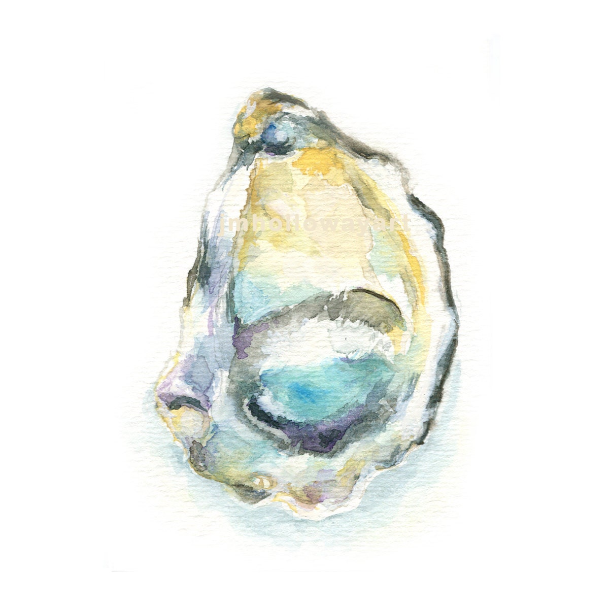 Art Oyster Shell Print Watercolor
