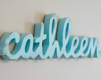 Small Baby Name Sign, Shelf Display, Name Art, Wooden Name, Kid's Room, Nursery