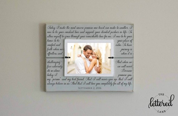 Wedding Vows Picture Frame Art, Custom Wedding Vows, Personalized photo frame, Wedding Gift, Anniversary Gift, Wedding Date Frame