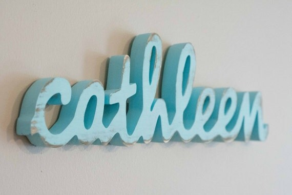 Small Baby Name Sign, Shelf Display, Name Art, Wooden Name, Kid's Room, Nursery