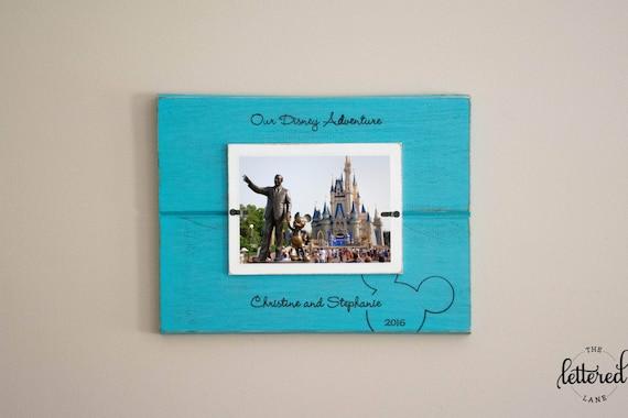 Disney Vacation Picture Frame, disney adventure, Personalized Photo Frame, Disney Trip Frame