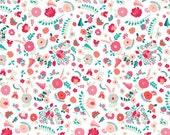 Bullion Fronds Carnation (Knits) - Recollection - Katarina Roccella - Art Gallery Fabrics - 1 Yard