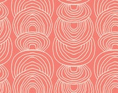 Ripple in Coral - Rain Walk (Canvas) - Anna Graham - Cloud 9 Fabrics - Organic Cotton - 1 Yard