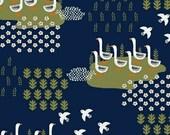 Ducks in Navy - Gardening - Dinara Mirtalipova - Windham Fabrics - 1 Yard
