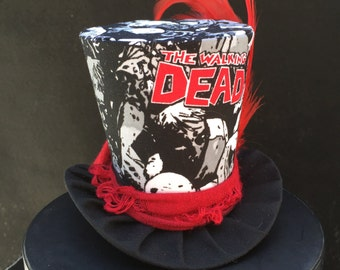 The Walking Dead Inspired Mini Top Hat for Dress Up, Birthday, Tea Party or Photo Prop