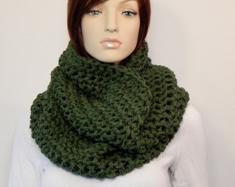 Overhead Cowl Scarf, Thyme Green Cowl, Winter Fashion, Cozy Cowl, Womens Accessories, Green Hooded Scarf, Winter Scarf, MarlowsGiftCottage