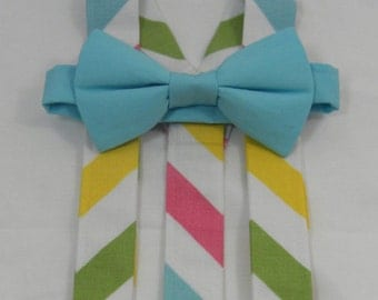 Easter Suspenders and Bow Tie. Sizes Infant - 12 years. Perfect for Weddings or Spring Photos.. Free Shipping for 3 or more Sets.