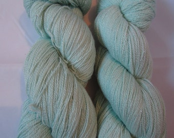 Sparkle Lace - A merino, silk and stellina lace yarn blend - Barely Green