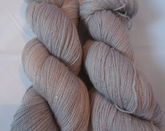 Sparkle Lace - A merino, silk and stellina lace yarn blend - Silver
