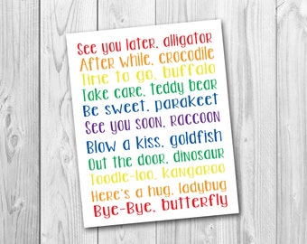 See you later alligator, nursery art, playroom art, printable, instant download