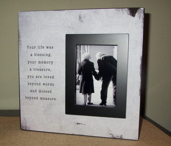 Sympathy Picture Frame Sign Your Life Was A By Wordsofwisdomnh
