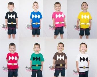 Ranger  Costume, 2t-5t, Power ninja costume , Cute costume, Baby costume, toddler costume, baby ninja costume , halloween,costume shirt