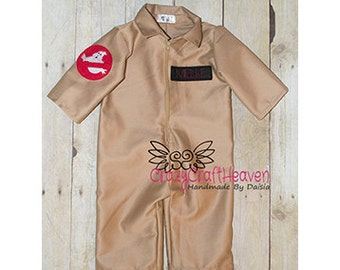 Ghost Buster costume, Baby GhostBuster costume, Baby Flight suit (Newborn-12m), Baby Pilot suit, Baby Pilot uniform,  baby uniform