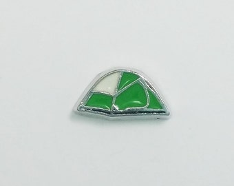 1 PC - Tent Camping Scouts Enamel Silver Charm for Floating Locket Jewelry F0297