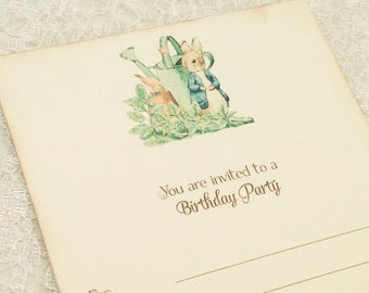 Peter Rabbit Birthday Party Invitations-First Birthday Party-DIY Invitations--Set of 10