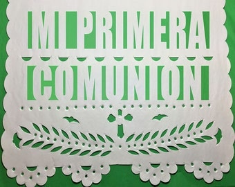 Mi Primera Comunion Papel Picado Banner - My First Communion