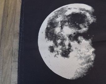 Moon - Hand Screen Print Moon Patch