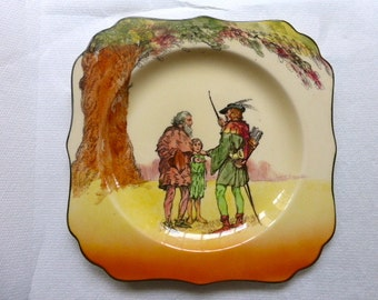 Royal Doulton Under the Greenwood Tree Series 'Robin Hood Friend of the Poor' Plate