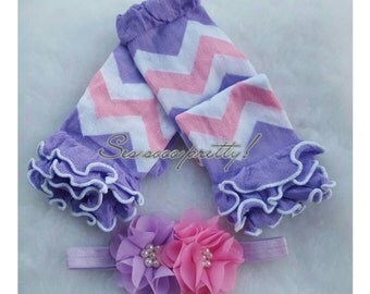 Headband and legwarmers set