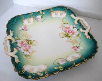 Bavarian Serving Dish P.M. Collectible Hand Painted Tray