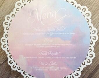 Circular wedding menu - color customizable!