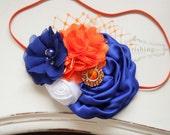 Game Day- Florida Gators headband, Orange and Blue headband, team spirit headbands, newborn headband, game day headbands