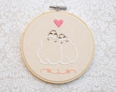"SALE!! Embroidery Hoop Wall Ornament 5"" Love Sheep"